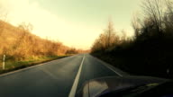 Driving Along Scenic Country Road video