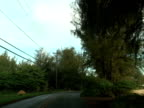 Driving Along Tropical Beach video