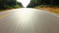 Driving Country Road Fisheye video
