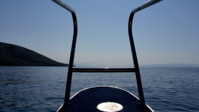 driving fast on boat in croatia video