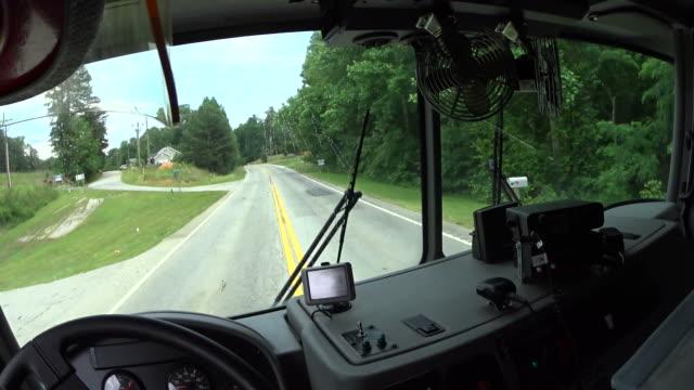 driving fire truck video