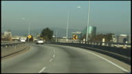 (HD1080i) Driving Freeway, Expressway, Motorway, Highway Transition Overpass: Los Angeles video