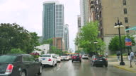 Driving from Michigan Avenue to South Loop in Chicago video