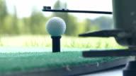 Driving golf-ball form the golf ball dispenser video