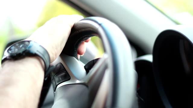 Driving his car video
