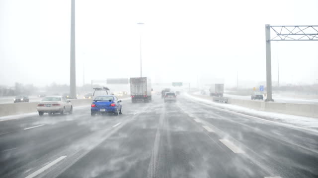 Driving in a Snow Storm, Canada video