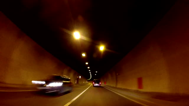 Driving in a tunnel video