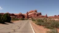 HD: Driving in Arches national park video