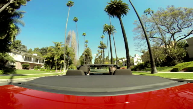 WS POV Driving In Beverly Hills Neighbourhood video