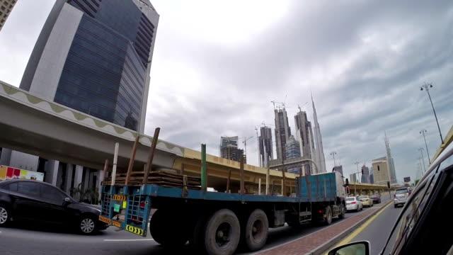 Driving in Dubai traffic video