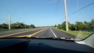 Driving in Florida. Highway. video