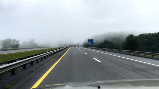 Driving In Morning Mist video