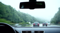 Driving in rainy weather video