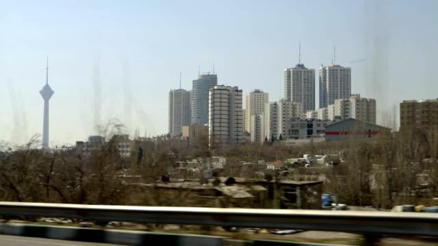 Driving in Tehran, Milad Tower video