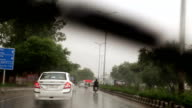 Driving in the City During Rainy Season, view from inside video