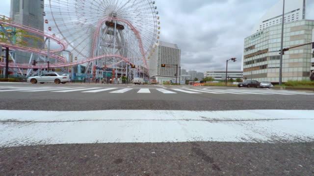 Driving in the city -Yokohama -4K- video