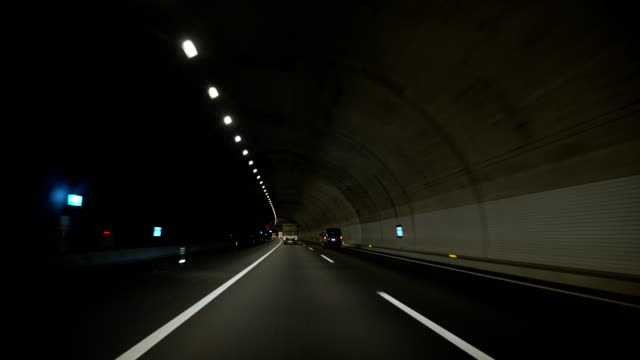 driving in the dark tunnel video