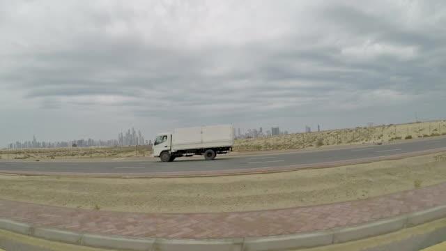 Driving in the desert near Dubai video
