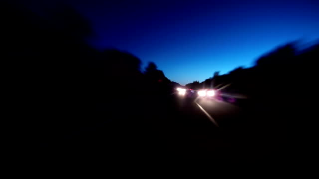 Driving in the evening time lapse video