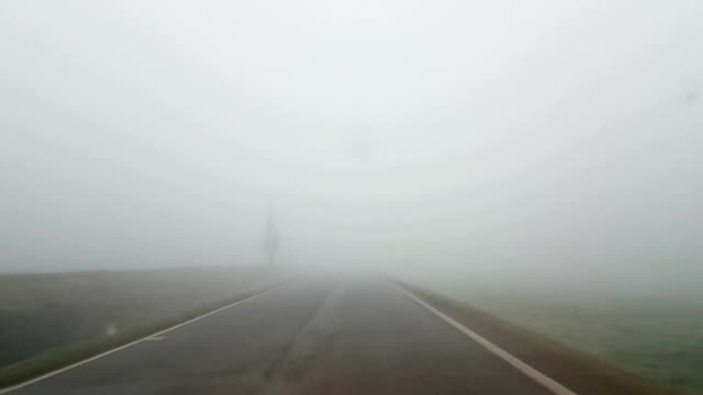 Driving in the fog video