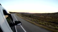 Driving in the Southern Rockies Dry Rocky Mountain video