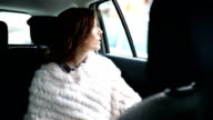 Driving in the taxi video