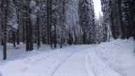 HD TIME-LASPE: Driving in the winter video