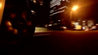 Driving in town at night video