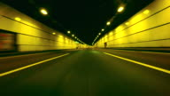 Driving in tunnel -4K- video