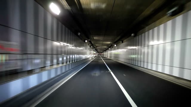 Driving in Tunnel video
