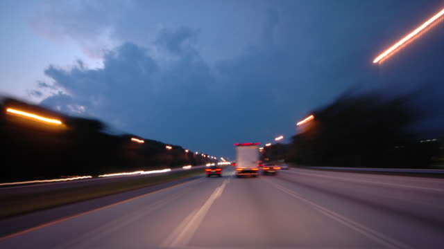 Driving into night video
