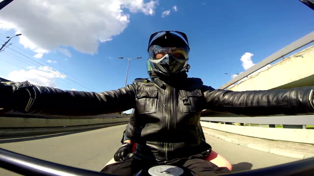 Driving Motorcycle video
