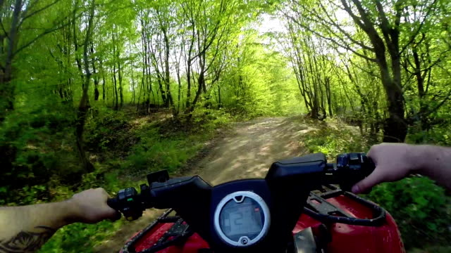 driving POV mountain off-road on ATV video