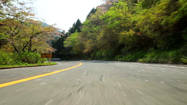 Driving mountain road ,Rear View video