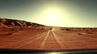driving off-road car in the sahara desert video