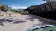 Driving on a dirt road in Morocco video