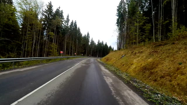 Driving on a mountain rural road. video