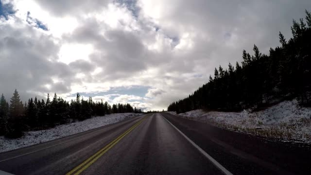 POV driving on a scenic road video