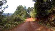 Driving on dirt road. video