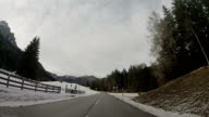 Driving on Dolomites Alps video