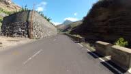 POV Driving on island La Palma Spain up the mountain video