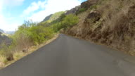 POV Driving on island La Palma Spain up the mountain video