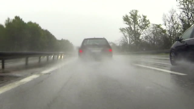 POV Driving On Rainy Highway video