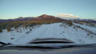 Driving on Snow Sangre De Cristo Mountains heading back into Taos New Mexico video
