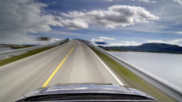 Driving On The Atlantic Road Bridge in Norway video