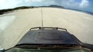 Driving on the beach in northern Australia HD video