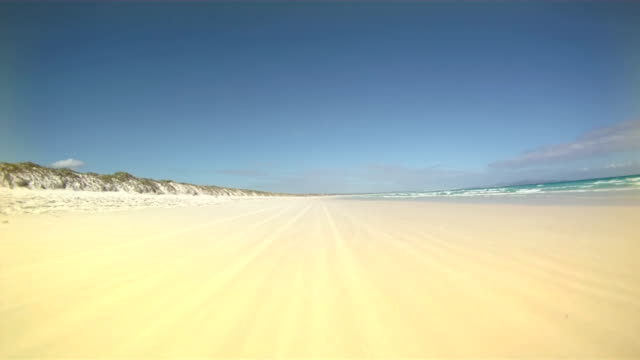 HD TIME LAPSE: Driving On The Beach video