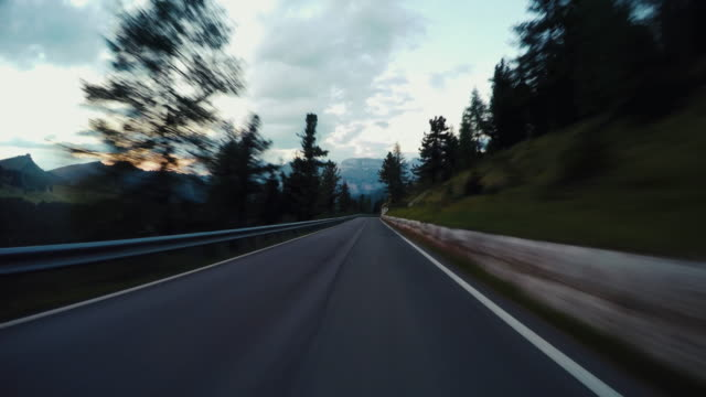 Driving on the Dolomites European Alps video
