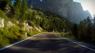 Driving on the Dolomites video