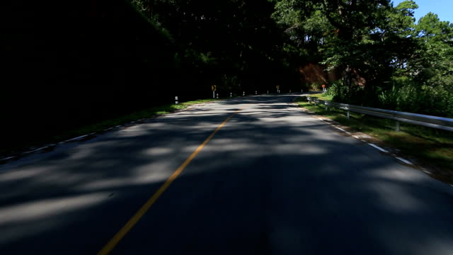 HD: Driving on the empty winding road video